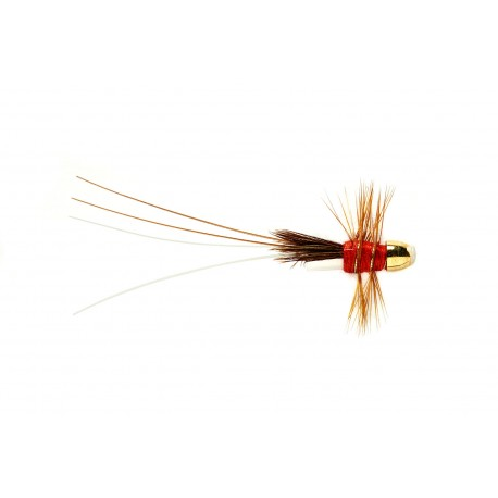 V Fly 1/2 Inch Red Francis Conehead Salmon Tube Fly