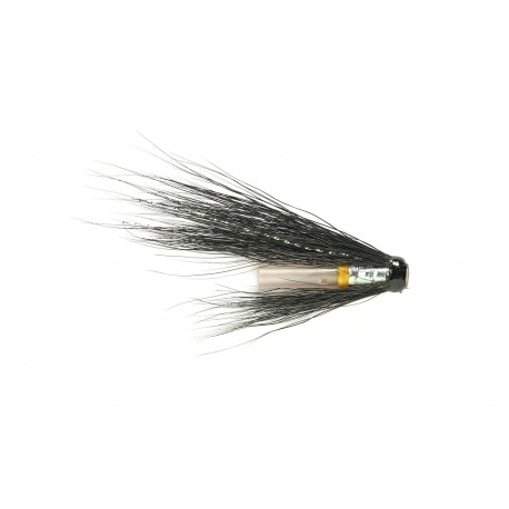 "V Fly Hitch Silver Stoat 3/4"" Salmon Tube Fly"