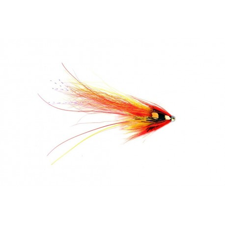 "V Fly Francis Flamethrower 1"" Salmon Tube Fly"
